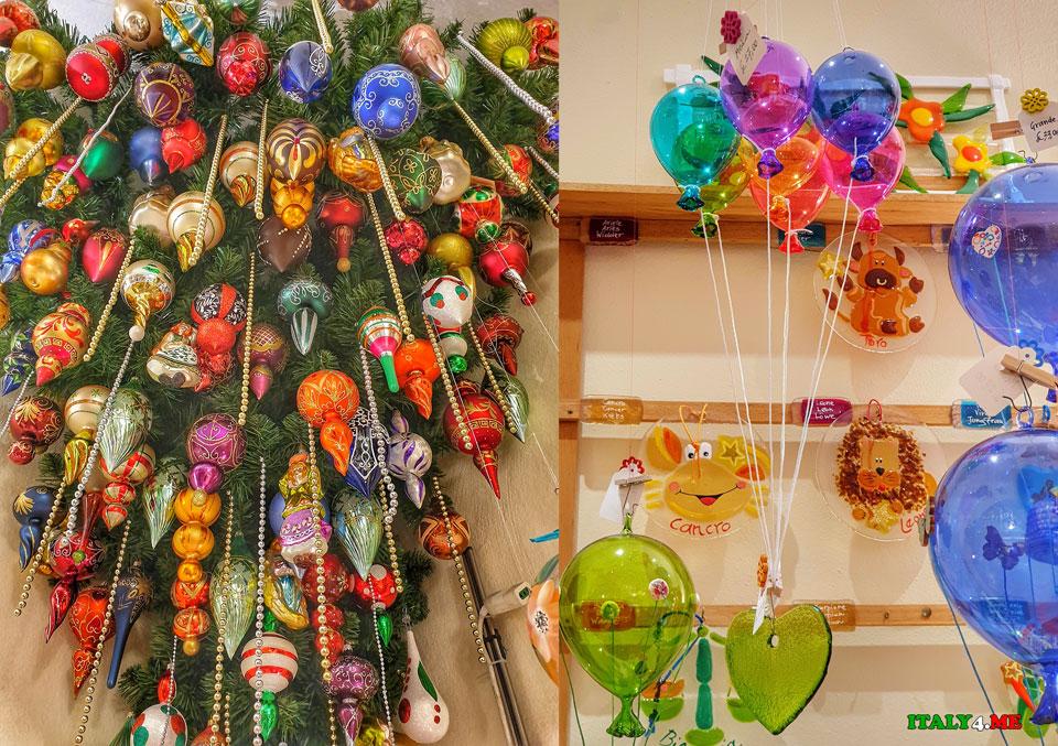 Ёлочные игрушки в городе Белладжо –отличный сувенир из Италии