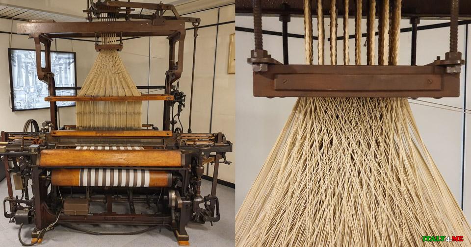 Прядильная машина прошлого века в музее шёлка на озере Комо