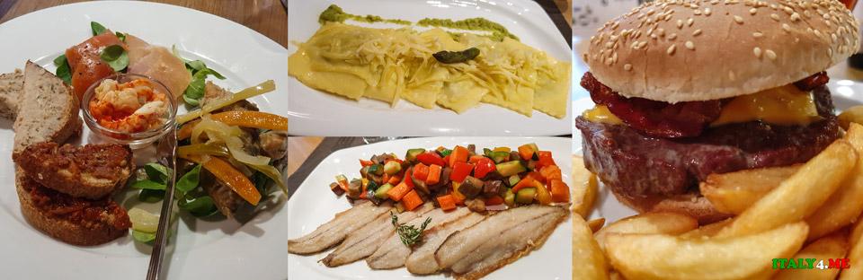 Ужин в Ардженьо в ресторане La P'Osteria