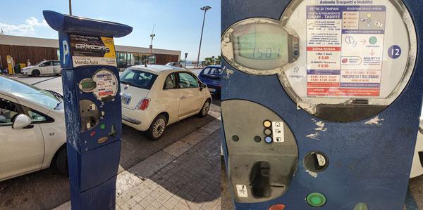 Оплата парковки в Трапани, Сицилия
