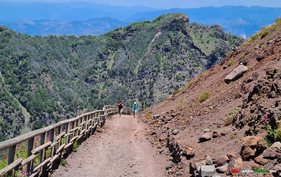 Спуск с вулкана Везувий