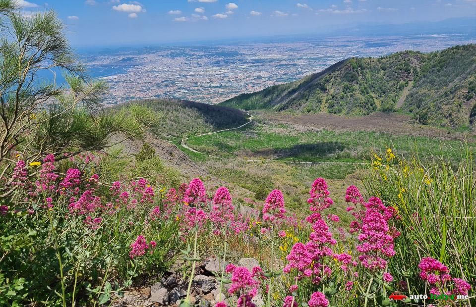 Вид на Неаполь с вулкана Везувий