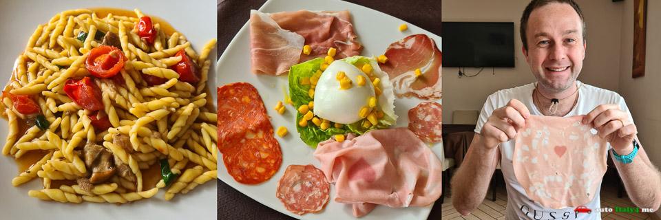 обед в ресторане La Fenice в городе Авелла паска и закуски