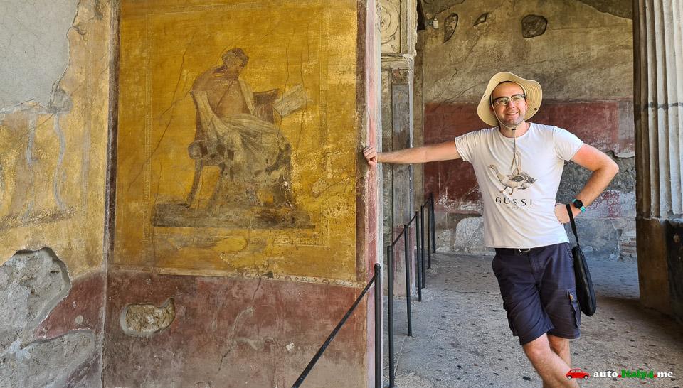Артур Якуцевич на экскурсии в Помпеях