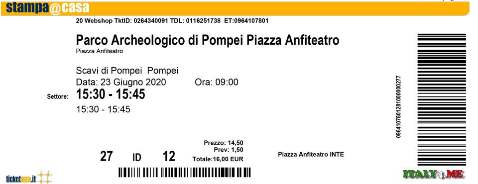 Билет в Помпеи