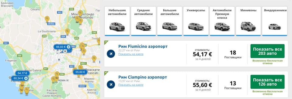 Аренда недорогих авто в Италии