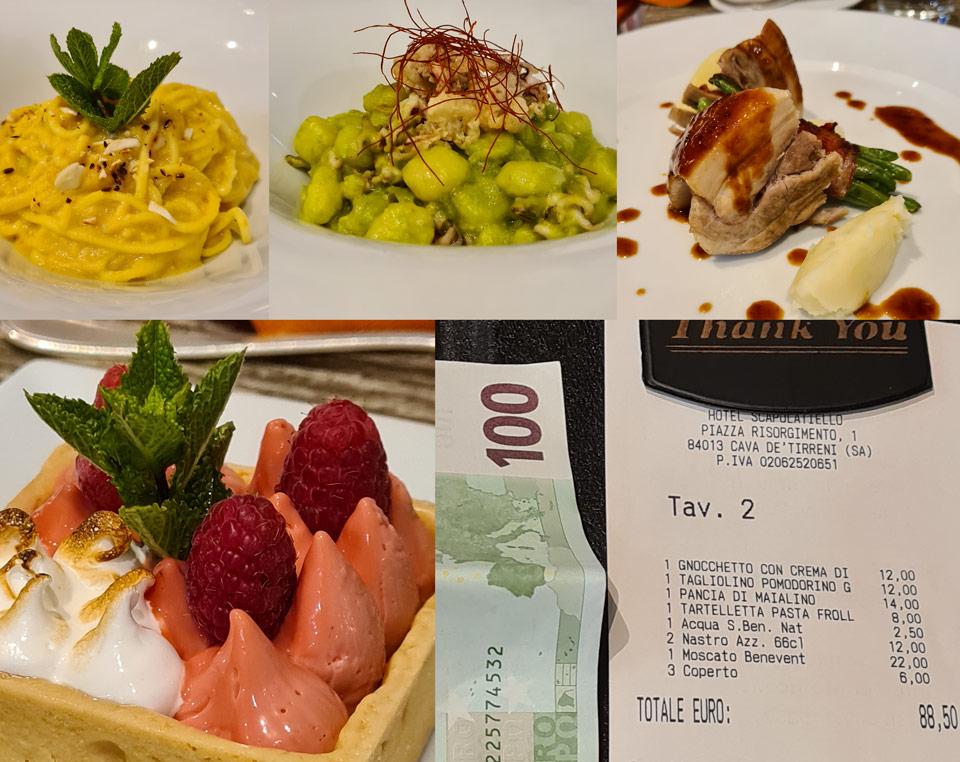 Ужин в ресторане при отеле Кава-де-Тиррени